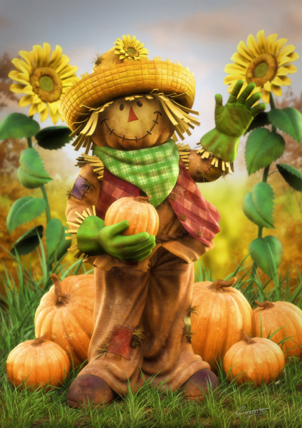 Sunflower Scarecrow