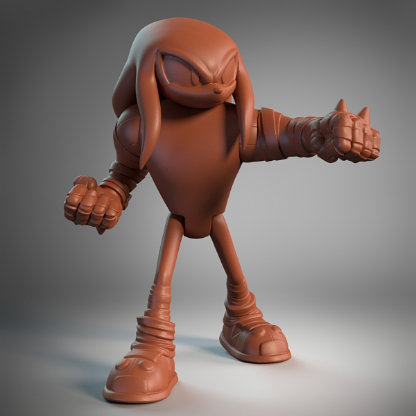 Knuckles Posed